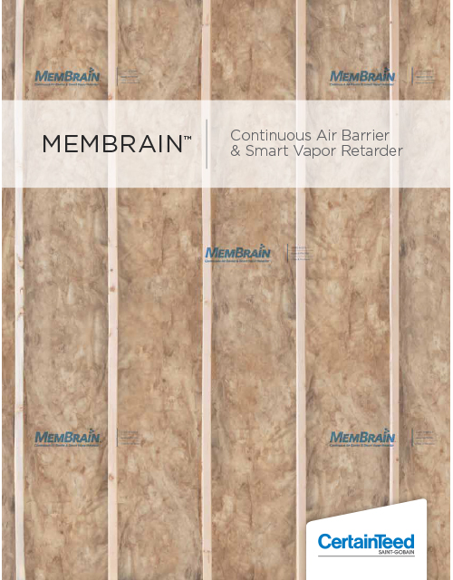 MemBrain Continuous Air Barrier & Smart Vapor Retarder