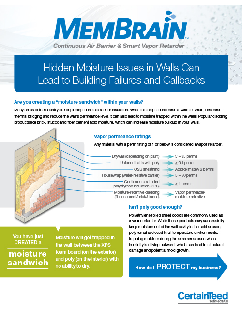 MemBrain Continuous Air Barrier & Smart Vapor Retarder brochure