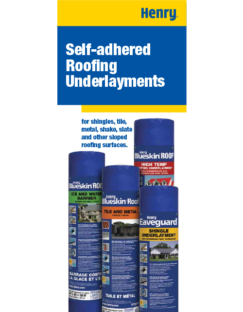 Self-adhered Roofing Underlayments