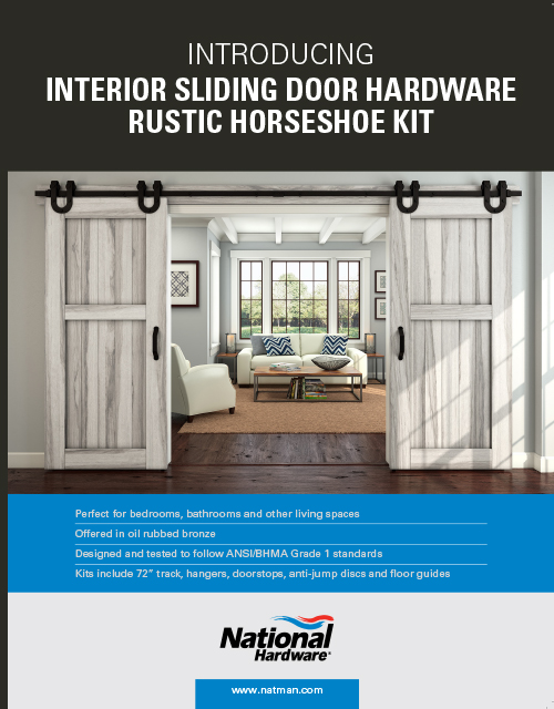 Interior Sliding Door Hardware Rustic Horseshoe Kit