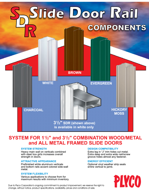 Slide Door Rail Components