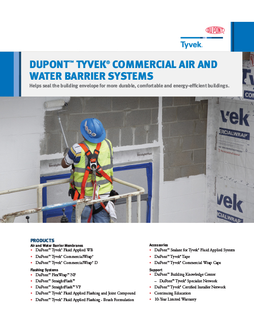 DuPont Tyvek Commercial Air and Water Barrier Systems