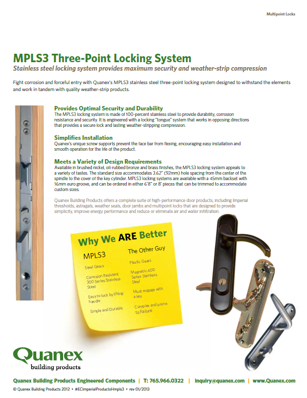 3-Point Locking System Flyer