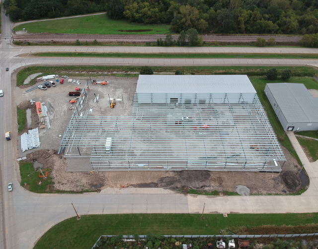 Millwork Facility Construction on Schedule